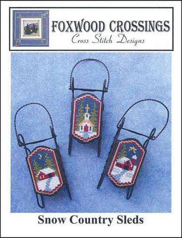 Snow Country Sleds by Foxwood Crossings Counted Cross Stitch Pattern