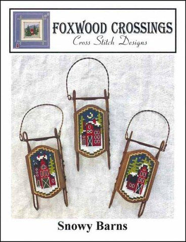 Snowy Barns by Foxwood Crossings Counted Cross Stitch Pattern