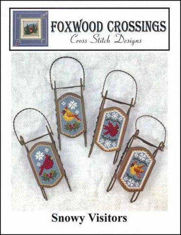 Snowy Visitors by Foxwood Crossings Counted Cross Stitch Pattern