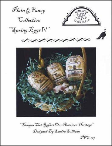 Spring Eggs 4 by Homespun Elegance Counted Cross Stitch Pattern