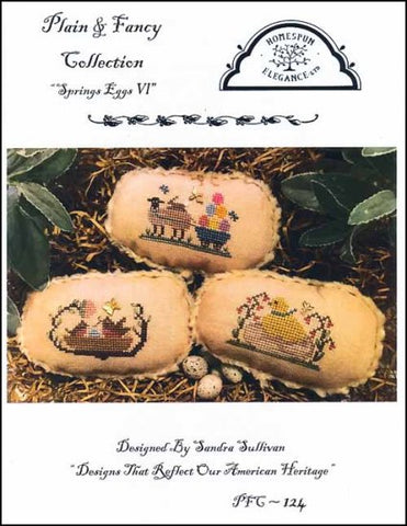 Spring Eggs 6 by Homespun Elegance Counted Cross Stitch Pattern