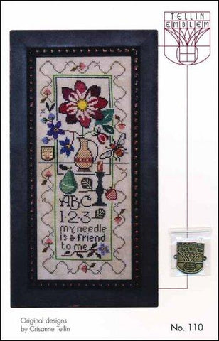 Still Life Sampler: Dahlia by Tellin Emblem Counted Cross Stitch Pattern