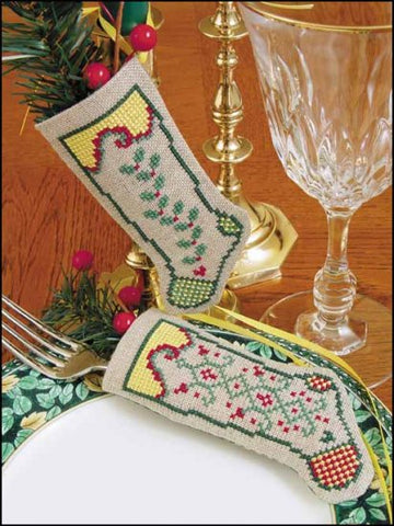 Linen Stocking Ornament Kit. HOPE