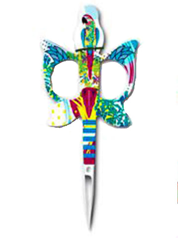 BOHIN JUNGLE BIRDS-PARROT EMBROIDERY SCISSORS-Green
