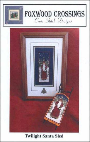 Twilight Santa by Foxwood Crossings Counted Cross Stitch Pattern