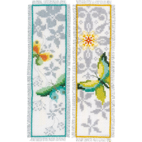 Butterfly Vervaco Bookmark Counted Cross Stitch Kit 2.5