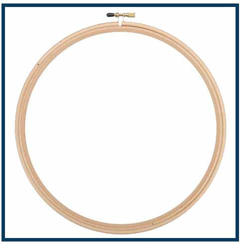 "6"" ROUND WOOD EMBROIDERY HOOP - Orenco Originals LLC"