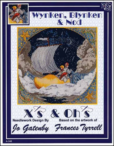 Wynken, Blynken & Nod By X's & Oh's  Counted Cross Stitch Pattern