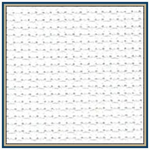 Charles Craft Gold Standard DMC 14-count Aida 15 inches by 18 inches -White