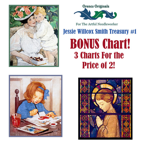 Jessie Willcox Smith Deluxe Treasury#1 -Three Counted Cross Stitch Patterns