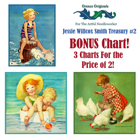 Jessie Willcox Smith Deluxe Treasury2 -Three Counted Cross Stitch Patterns