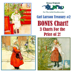 Carl Larsson Deluxe Treasury#2 -Three Counted Cross Stitch Patterns