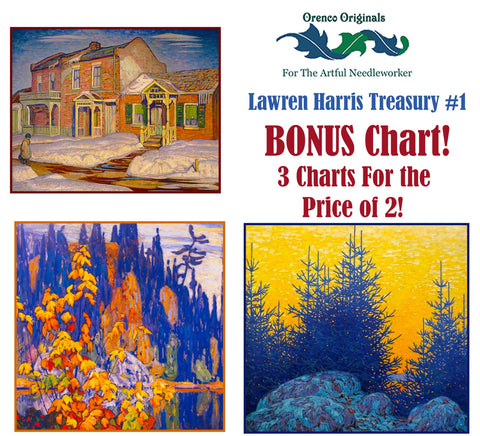 Lawren Harris Deluxe Treasury #1 -Three Counted Cross Stitch Patterns