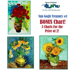 Impressionist Van Gogh Deluxe Treasury #1 -Three Counted Cross Stitch Patterns