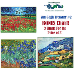 Impressionist Van Gogh Deluxe Treasury #2 -Three Counted Cross Stitch Patterns