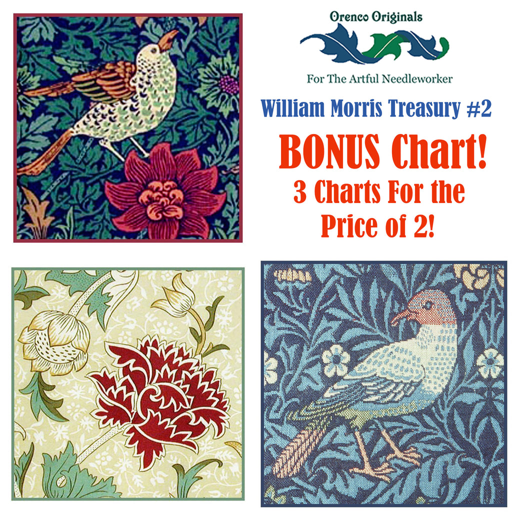 William Morris Deluxe Treasury #2 -Three Counted Cross Stitch Patterns