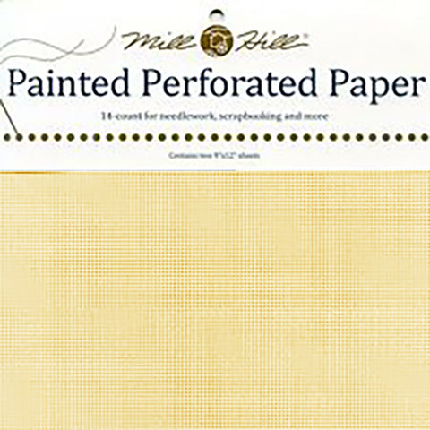 ANNIVERSARY GOLD MILL HILL PERFORATED PAPER Two 9