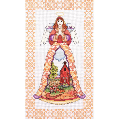 Autumn Angel by Jim Shore for Design Works Counted Cross Stitch Kit -Mill Hill