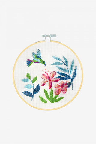 EXOTIC FLOWER  - DMC Stitch Kit -  Great for a New Stitcher!