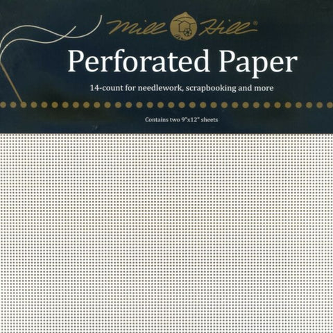 MILL HILL PERFORATED PAPER-WHITE- Two 9