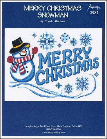 Merry Christmas Snowman by Imaginating Counted Cross Stitch Pattern