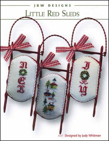 Little Red Sleds  by JBW Designs Counted Cross Stitch Pattern