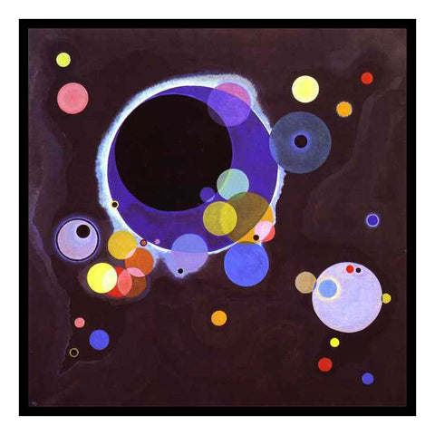 Several Circles by Artist Wassily Kandinsky Counted Cross Stitch or Counted Needlepoint Pattern