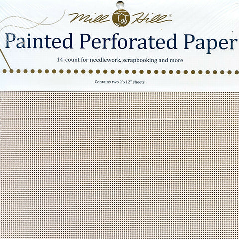 PINK FROST MILL HILL PERFORATED PAPER Two 9
