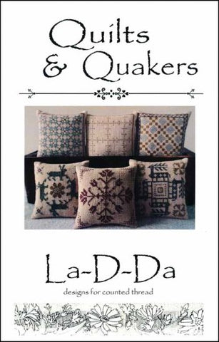 Quilts and Quakers-Smalls By La-D-Da Counted Cross Stitch Pattern