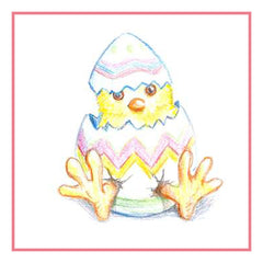 Contemporary Easter Baby Chicks Breaks out of Egg Counted Cross Stitch  Pattern - Orenco Originals LLC