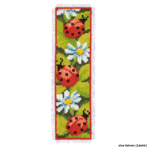 Ladybird- Ladybug Bookmark by Vervaco Counted Cross Stitch Kit 2.5