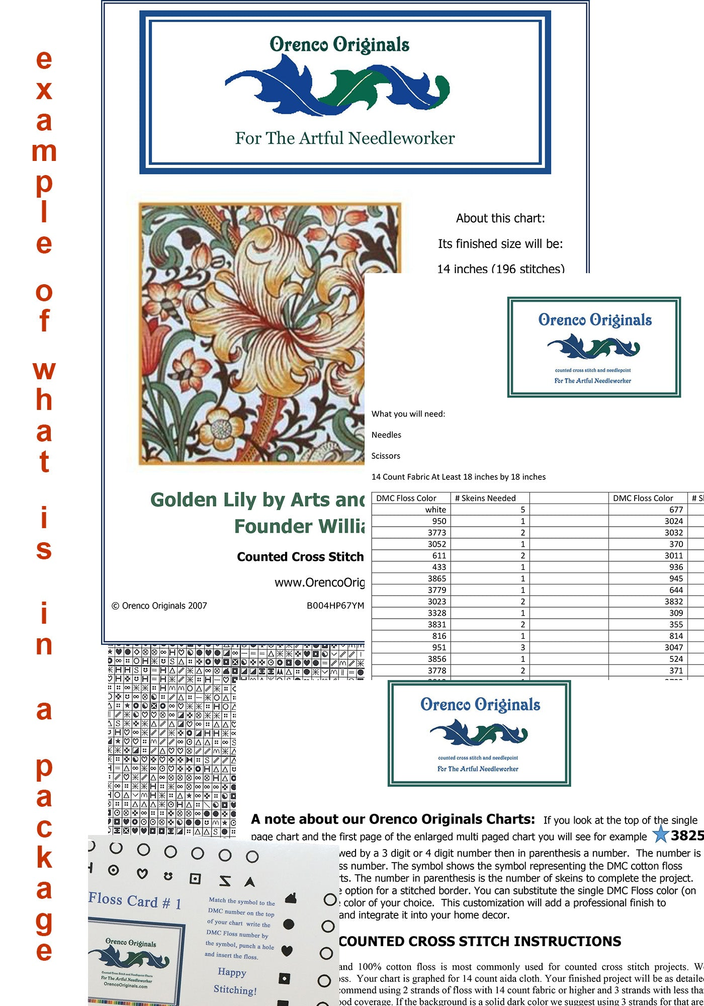 Orenco Originals Lilacs by Vincent Van Gogh Counted Cross Stitch Pattern