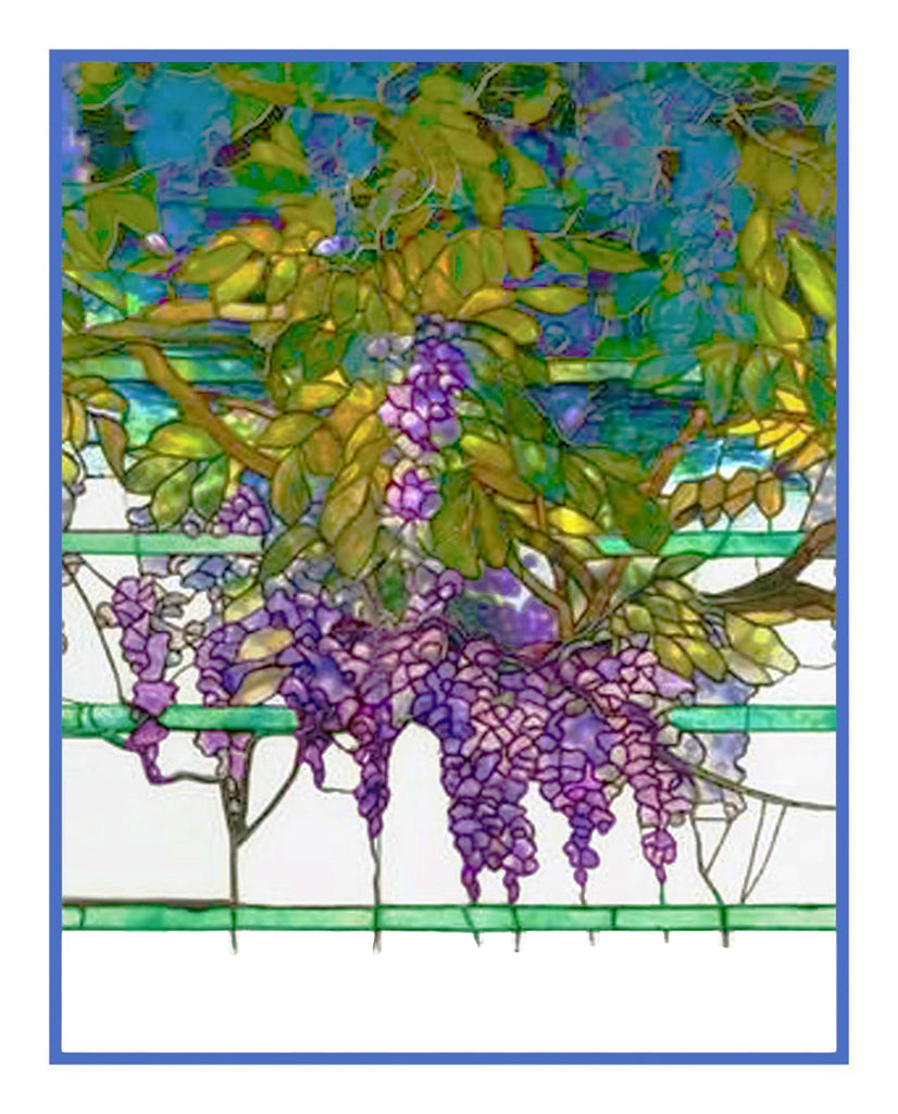 Wisteria Flower detail inspired by Louis Comfort Tiffany  Counted Cross Stitch Pattern
