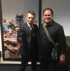 Host of AMC's Talking Dead, Chris Hardwick and First My Family Founder and CEO Andrew Torres