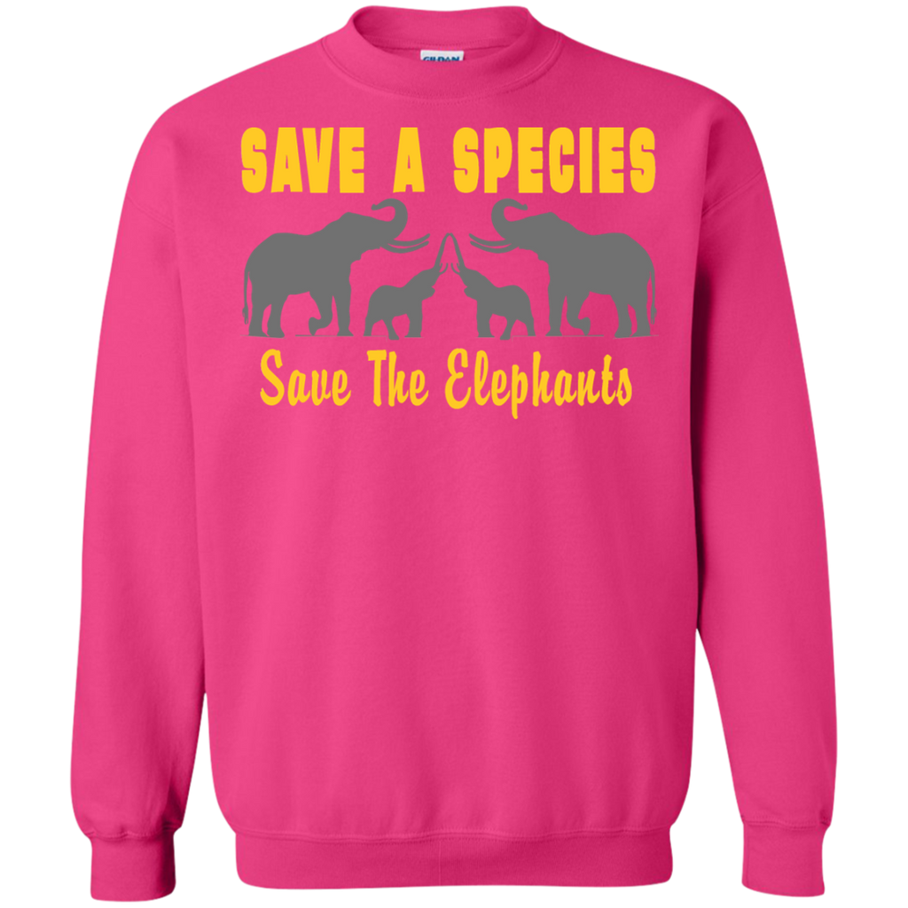 Save the Species Save the Elephants Awareness Sweatshirt