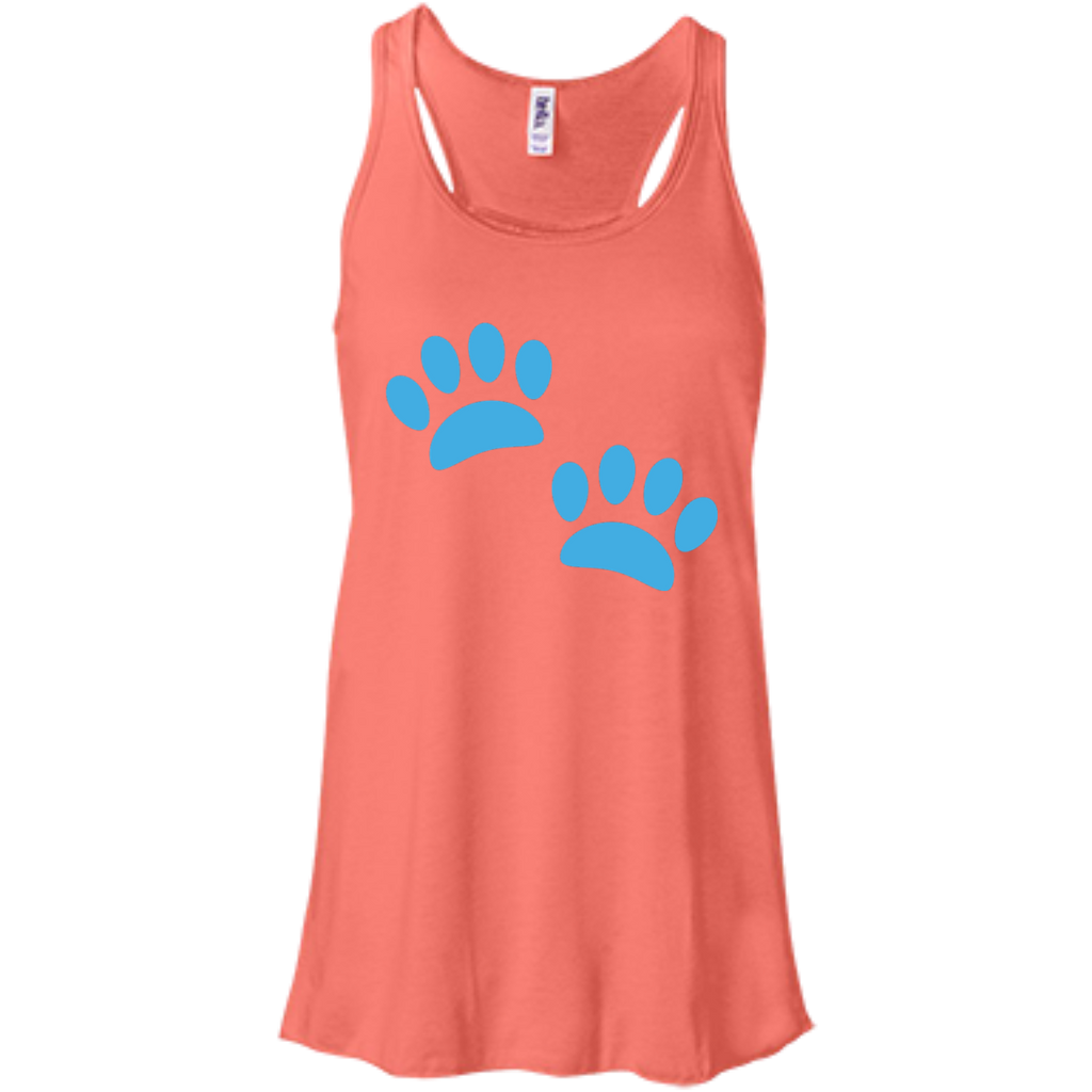 Paw Prints Women's Flowy Tank Top