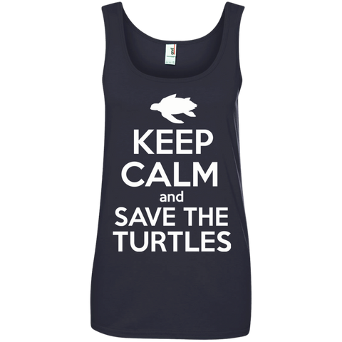 Keep Calm And Save the Turtles Women's Tank Top