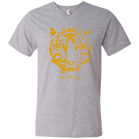 Save the Tigers Awareness Men's V-Neck T-Shirt