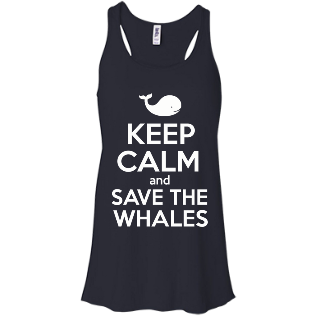 Keep Calm And Save the Whales Women's Flowy Tank Top