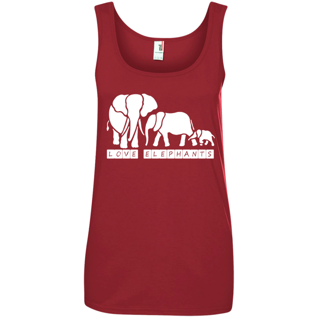 Love Elephants Awareness Women's Tank Top