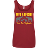 Image of Save the Species Save the Elephants Awareness Women's Tank Top