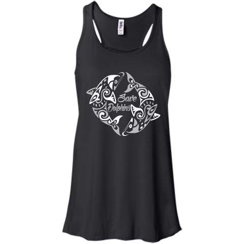 Save Dolphins Awareness Women's Flowy Tank Top