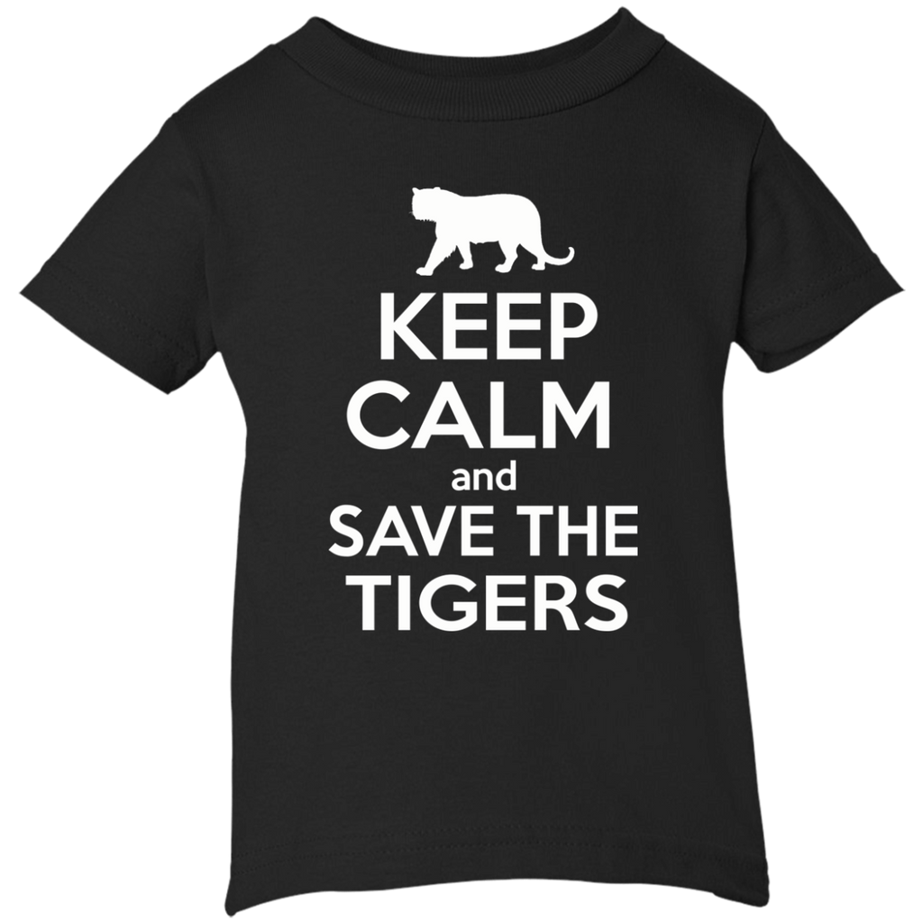 Keep Calm And Save the Tigers Awareness Infant T-Shirt