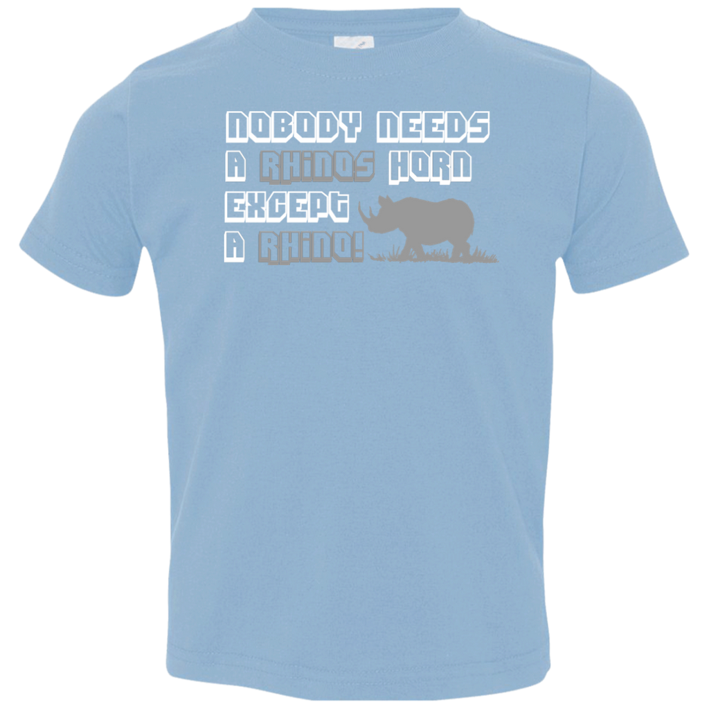 Nobody Needs A Rhino Horn Except a Rhino Awareness Toddler Jersey T-Shirt