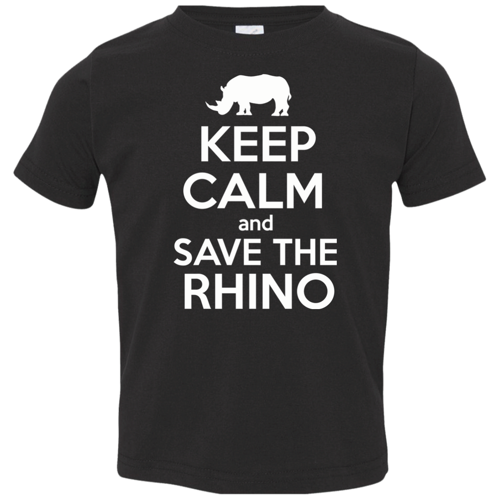 Keep Calm and Save the Rhino Toddler Jersey T-Shirt