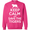 Image of Keep Calm And Save the Tigers Awareness Sweatshirt