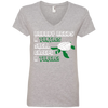 Image of Nobody Needs a Turtle Shell Except a Turtle Women's V-Neck T-Shirt