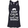 Image of Keep Calm and Save the Rhino Flowy Tank Top