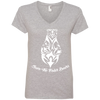 Image of Save The Polar Bears Awareness Women's V-Neck T-Shirt
