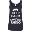 Image of Keep Calm and Save the Rhino Womens Tank Top
